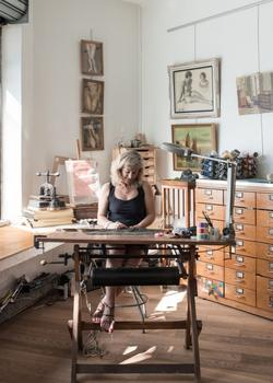 L'atelier de Marion Boyer.