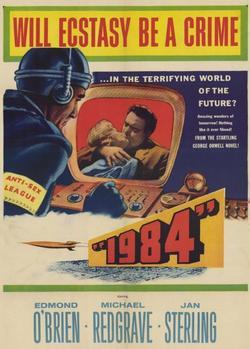 L'affiche de l'adaptation cinématographique de «1984» de Michael Anderson en 1956