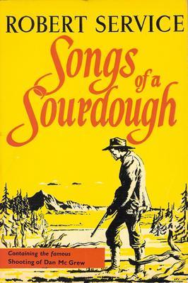 La couverture originale du recueil de poèmes de Robert Service.
