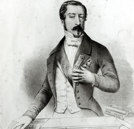 Louis-Napoléon Bonaparte(1808-1873), Président de la Seconde République, prête serment sur la Constitution de 1848 en décembre.