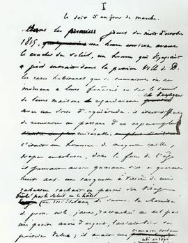 Fac-similé de la première partie du manuscrit de Victor Hugo, «Les Misérables».