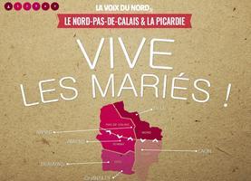 La célébration du mariage entre le Nord et la Picardie par <i>la Voix du Nord</i>.
