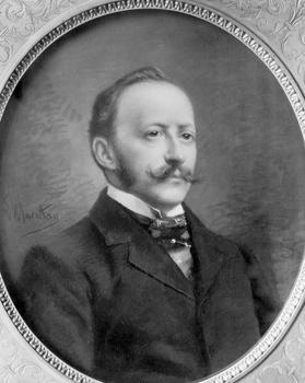 Miniature de César Ritz vers 1900.