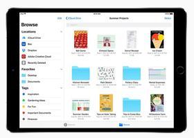 L'application «Fichiers» sur iPad. (Apple)