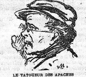 Médéric Chanut, le tatoueur des Apaches, dans «Le Matin» du 29 août 1902.