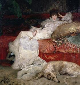 Sarah Bernhardt: tableau peint par Georges Clairin, 1876.