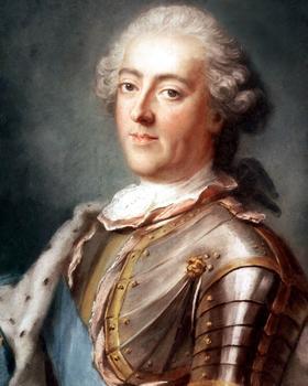 Louis XV (1710-1774) roi de France de 1715-1774, en armure et perruque, vers 1740, peint par par Gustav Lundberg.
