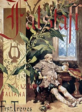 Falstaff, opéra en trois actes de Verdi. Couverture du journal L'Illustrazione italiana vers 1893.