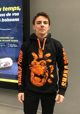 Lucas, 17 ans, venu avec son frère Alexis et son père Didier.