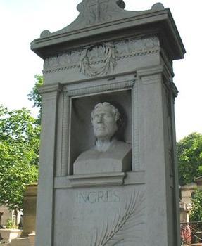 Le monument funéraire d'Ingres au Père Lachaise, élevé d'après les plans de Victor Balard.