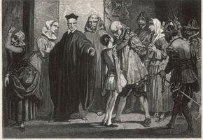 Arrestation d'un père de famille protestant, dans le sud de la France après la révocation de l'Édit de Nantes.