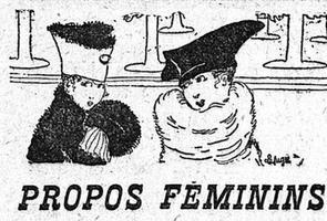 Illustration de la chronique mode dans <i>Le Figaro</i> du 14 octobre 1916.
