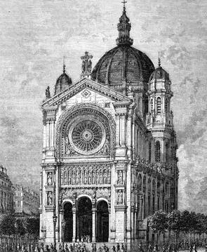 L'Église Saint-Augustin en 1869.