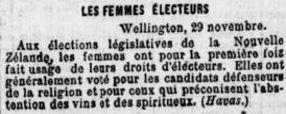 Brève dans le journal «Le Soleil» du 30 novembre 1893.