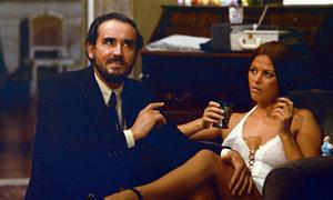 Avec Vittorio Gassman dans <i>L'audience</i> en 1972