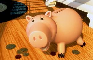 Bayonne, le cochon-tirelire dans <i>Toy Story</i>.