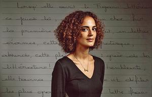 Leïla Slimani, photographiée par Stéphane Lavoué pour <i>«Figures d'écrivains».</i>