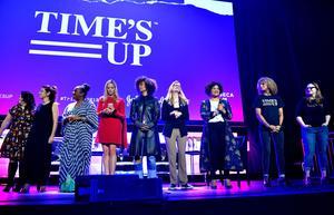 Plusieurs actrices et activistes au festival du film de Tribeca à New York le 28 avril.