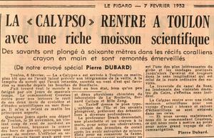 Article paru dans Le Figaro du 7 février 1952.