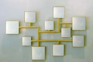Le miroir petits carrés d'Elizabeth Garouste.