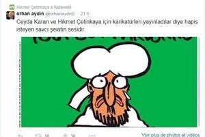 Le retweet d'Hikmet Cetinkaya.