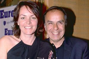 Avec Cendrine Dominguez, sa femme, en 2003.