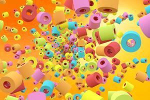 Renova s'est fait connaître grâce à ses rouleaux de papier toilette colorés.