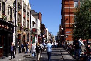 Le quartier de Temple Bar, haut lieu de la vie nocturne à Dublin.