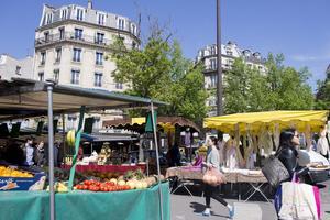 Le marché Edgar-Quinet (XIVe) setientlesmercredis et samedis <br/>matin.