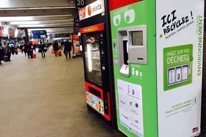 Un collecteur Canibal en gare Montparnasse. Crédit: Canibal.