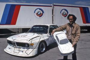 La BMW 3.0 CSL décorée par Frank Stella en 1977.
