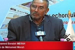 Mohamed Benalel Merah, père du tueur au scooter, ici lors d'une interview à la télévisoin algérienne.
