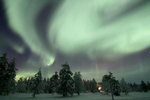 Aurore boréale dans le ciel lapon. (Crédit: Martin Criminale/Flickr/CC)