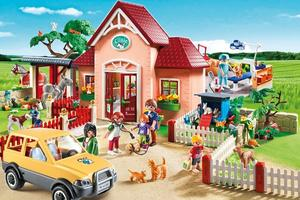 La clinique vétérinaire Playmobil collection 2015. Crédit: Playmobil.com