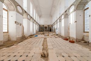 Ancien réfectoire des moines, transformé en chapelle pour les prisonniers au XIXe siècle.
