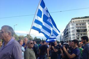 De nombreux médias sont présents pour couvrir la manifestation (Crédit: Tristan QUINAULT-MAUPOIL/LE FIGARO)
