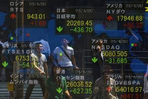 Les marchés financiers du monde entier sont touchés par la crise grecque.