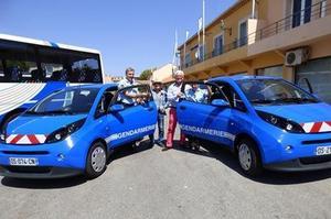 La Bluecar des gendarmes de Saint-Tropez.
