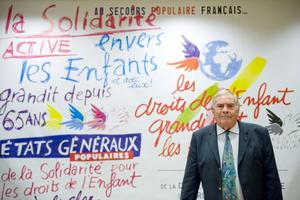 Jean Lauprêtre, président du Secours populaire français.