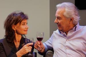 Pierre Arditi et Évelyne Bouix dans <i>Le Mensonge</i>.