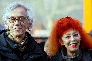 Les artistes Christo et son épouse Jeanne-Claude ici à New York en 2005.