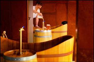 La spa à la bière, au Purkmistr.