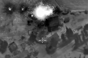 Image des bombardements russes fournies par le Kremlin.