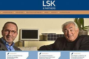 Thierry Leyne et Dominique Strauss-Kahn, à la une de l'ancien site de LSK.