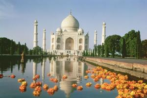 Le Taj Mahal, l'une des sept merveilles du monde.