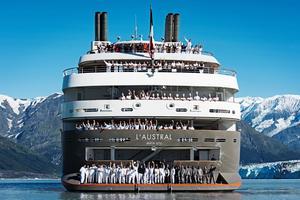 L'Austral, navire de la compagnie ponant.