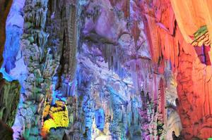 La grotte de la Flûte en Chine