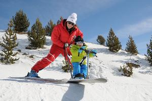 Orcières 1 850, le rendez-vous des bébés skieurs.