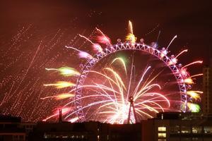 Les feux éclatent sur le London Eye.
