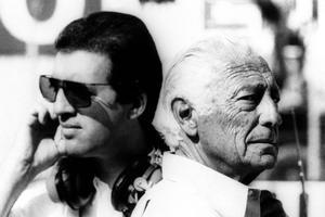 Gianni Agnelli en compagnie de Piero Lardi Ferrari.
